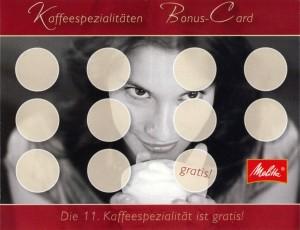 Kaffee-Bonus